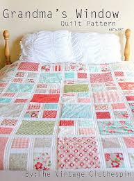 Patchwork Quilt Patterns Interesting Grandma's Window Quilt Pattern PDF Quilts Galore Pinterest