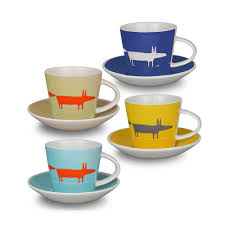 buy scion mr fox espresso cup and saucers  set of   amara