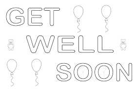 Awesome Coloring Pages Printable Floral Free Get Well Sheets Of