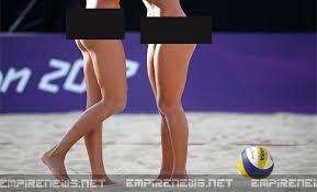 Nude beach women volleyball