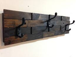 Heavy Duty Wall Storage Hooks Rustic Wall Mount Wood Coat Rack Can