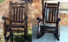 rustic rocking chair mountain cedar chairs and dining from hill log uk rustic rocking chair