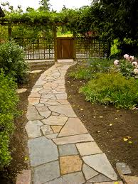 Flagstone Walkway from deck steps to drive way