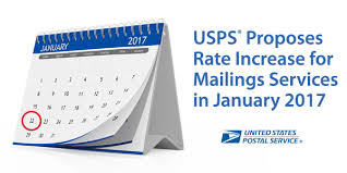 Usps Postage Rates Chart 2017 Usps Announces 2017 Postage Rate Increase For Mailing