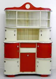 Red White Kitchen Fabulous Vintage Red And White Kitchen Hutch Creatief Wonen