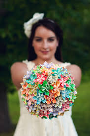 Paper Flower Diy Wedding Diy How To Origami Paper Flower Bouquet Capitol Romance
