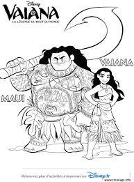 Coloriage Vaiana Et Maui De Disney Vaiana Moana Dessin