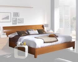 Light Cherry Bedroom Furniture Modern Platform Bed In Light Cherry Finish Made In Spain 33b202