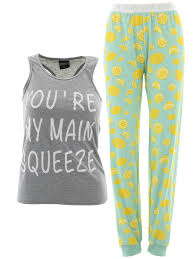 Delia S Main Squeeze Gray Pajamas For Juniors
