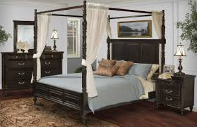 New Classic Martinique Rubbed Black Canopy Bedroom Set With Drapes ...