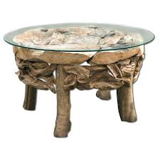 modern rustic coffee table decor round home furniture design for living room