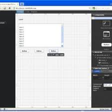 Arvue IDE with the graphical UI editor tab opened. | Download ...