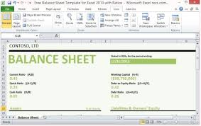 Simple Balance Sheet Excel Balance Sheet Template Excel 2013 Magdalene Project Org