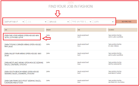 how to apply for zara jobs online at zara com careers apply zara online step 3