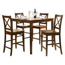 dining set wood. 5 piece martha counter height dining set wood/country brown - acme wood