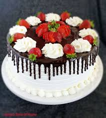 Honey Chocolate And Strawberry Cake Valyas Taste Of Home