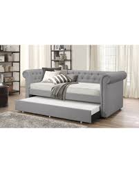 upholstered daybed with trundle. Unique Trundle Baxton Studio Mabelle Upholstered Daybed With Guest Trundle Bed Grey  Fabric RedGray Throughout With M