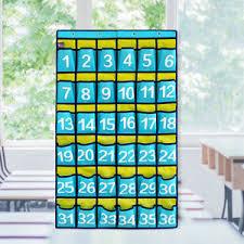 Calculator Storage School Organizer 42 Pockets Blue