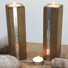... Impressive Tea Light Candle Holders Imagesspirations Home Decor  Original Personalised Pair Of Wooden Tealight Votive Mercury ...