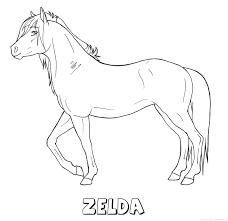Zelda Paard Naam Kleurplaat