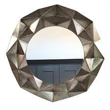 Geometrische Groß Rund Antik Gold Wandspiegel Für Wohnzimmer Flur