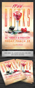 Make Free Flyers To Print Free Drinks Flyer Print Templates Flyers Events To Make This Pin