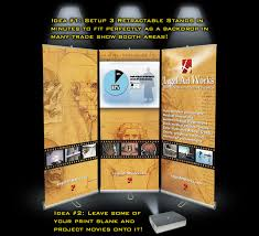 Convention Display Stands Trade Show Banner Stand Displays three together to create one 2