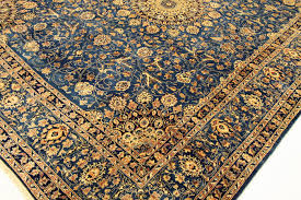 fine persian carpet kashmar 3 70 x 2 97 gold blue handwoven in iran high quality new wool oriental carpet top condition