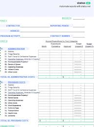 finance report templates a very organized financial status report template free download
