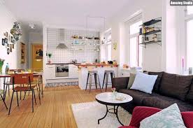 small open floor plan kitchen living room