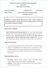 Chronological Format Resume