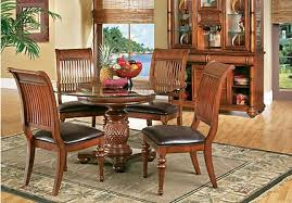round dining room table images. cindy crawford home key west tobacco 5 pc round dining room with slat chairs table images a