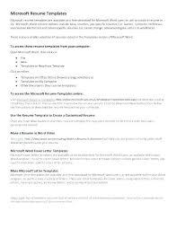 Microsoft Office Word Resume Templates Enchanting Word 48 Resume Templates Kappalab
