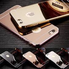 mirror iphone 7 plus case. for iphone 7 case metal aluminum alloy frame bumper pc mirror back cover iphone7 4.7 plus e