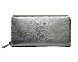 yves saint lau wallet ysl belle du jour silver leather