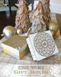 Paper Mache Boxes To Decorate Decorative Decoupage Gift Boxes Sand and Sisal 16