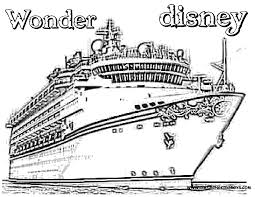 Disney Cruise Coloring Pages Only Coloring