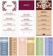 Restaurant Menu Format Free Menu Format Free Ohye Mcpgroup Co