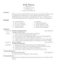 Accounts Payable Resume Summary Resume Accounting Clerk Accounting Clerk Resume 1 Resume Accounts