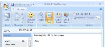 sending text message from email how to send sms text messages from computer to mobile phone with outlook