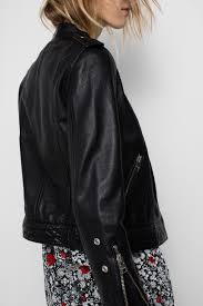 loon leather jacket black zadig voltaire