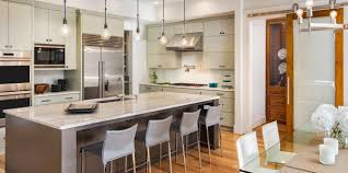 a modern kitchen with professionally installed counters