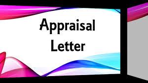 appraisal letter appraisal letter youtube