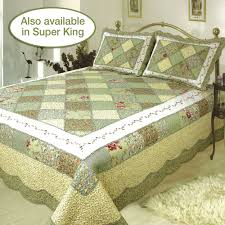ashley patchwork quilt olive touch to zoom
