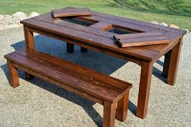 Homemade Backyard Table Diy Outdoor Table With Cooler Easy Patio Table  Plans Simple Pallet Patio Table