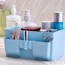 bathroom box multi function plastic dressing table cosmetic organizer case bathroom box holder kitchen table desktop storage