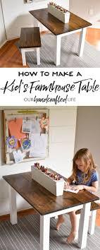 Wie Man Einen Diy Bauernhaus Kindertisch Herstellt