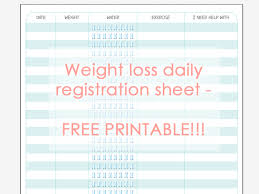 Weight Loss Record Sheet Productivity Archivos My Berry Own