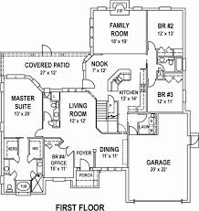 4 bedroom floor plans awesome 11 simple single house with wrap around porch st