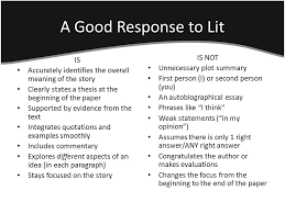 response to literature state standards write responses to 3 a good